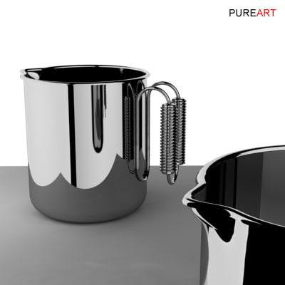 3d cookware milkpot