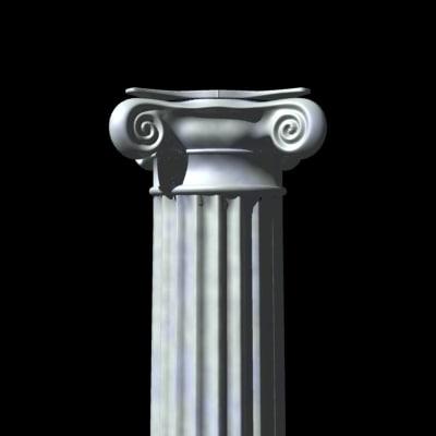 fluted column 3d 3ds