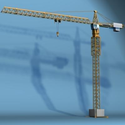 3d model liebherr tower crane