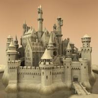 sandcastle sand castle 3d model