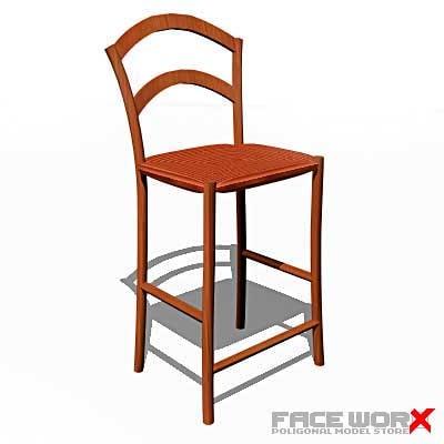 3d chair kitchen model