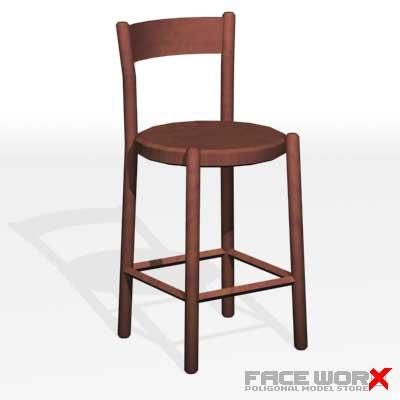3ds max chair kitchen