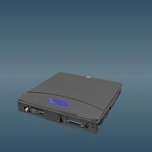 laptop notebook 3d model