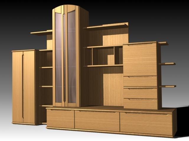 3d model furniture cabinet wardrobe
