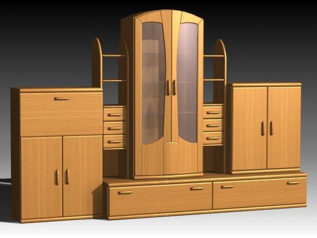 3d max furniture cabinet wardrobe