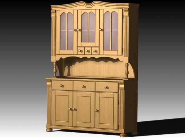 3d furniture cabinet