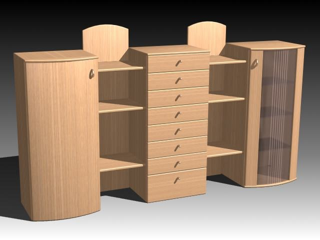 cabinets 3d max