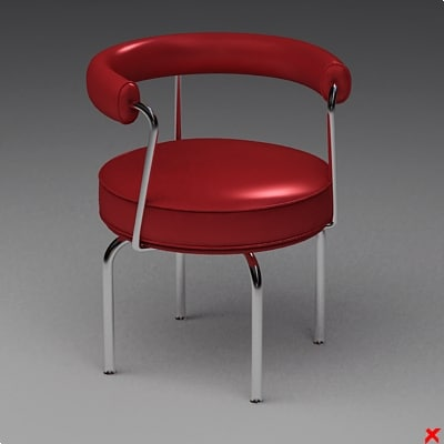 3d chair stool model