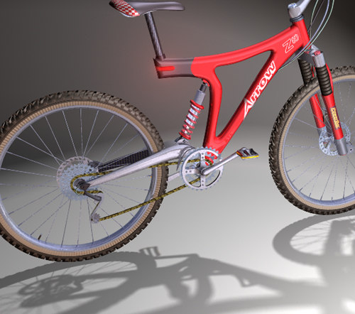 mountain bike bicycles 3d model