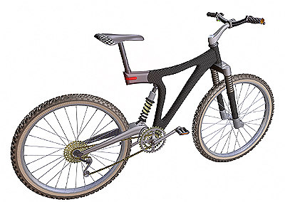 mountain bike studiotools 3d model