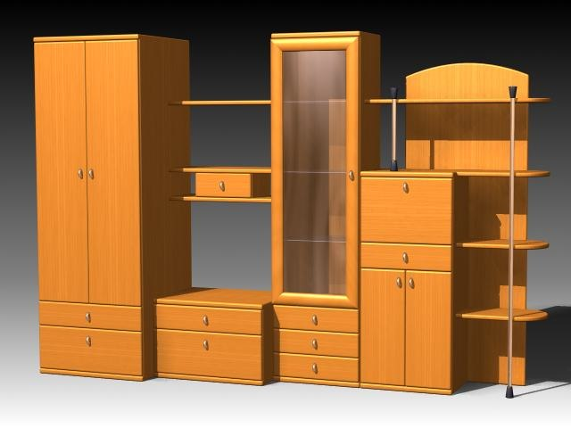3d furniture cabinet wardrobe