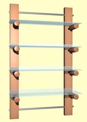 3d model shelves furniture