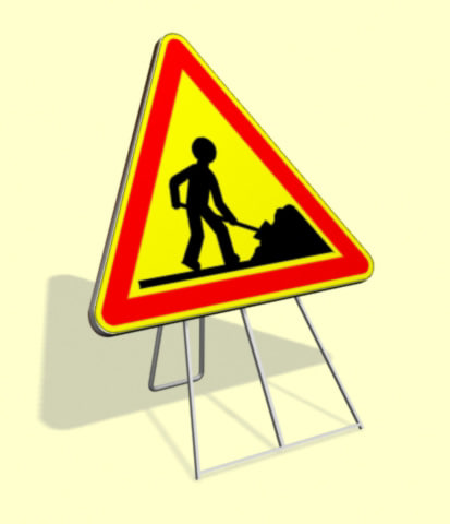 3d model roadsign security