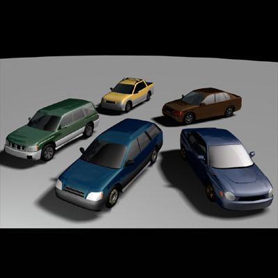 subaru forester legacy car 3d model
