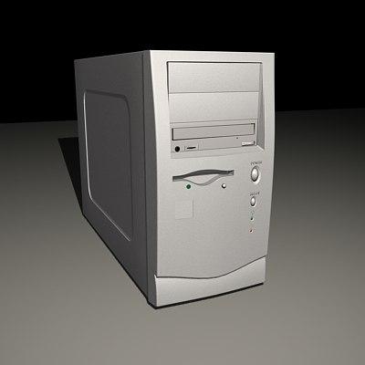 atx computer case 3d max