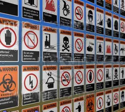 truespace osha warning signs