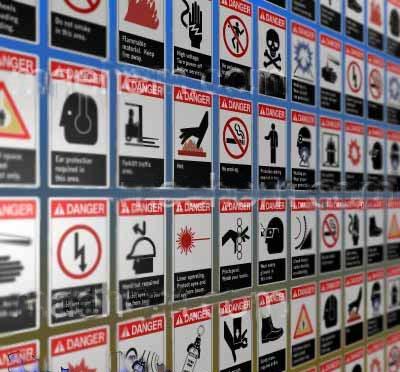 osha danger signs 3d cob