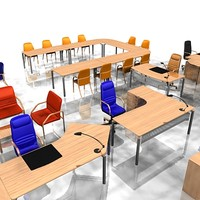 3d model office furniture pack