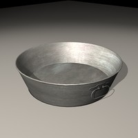 old worn wash-basin 3d max