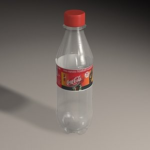plastic coca-cola bottle 3d model