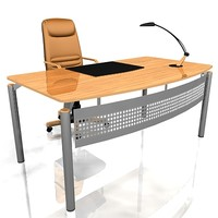 3ds max office workdesk desk
