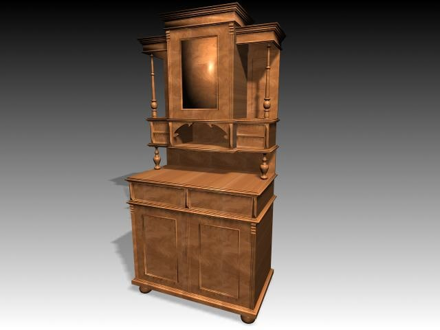 3d furniture cabinet model