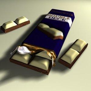 3d chocolate slab
