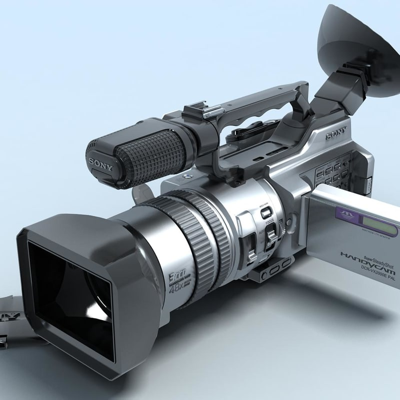 sony vx2000 camcorder 3d max