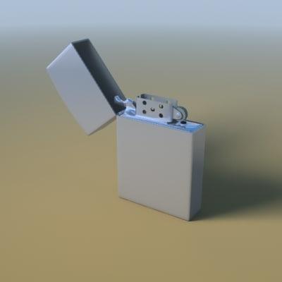 3d model metal zippo lighter