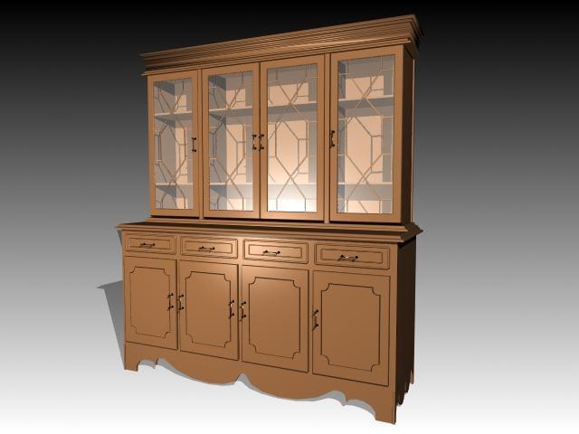 3d furniture cabinet model