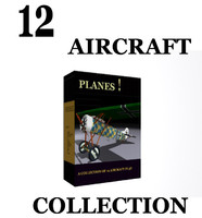 3d airplane planes model