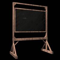 3d lwo chalk board