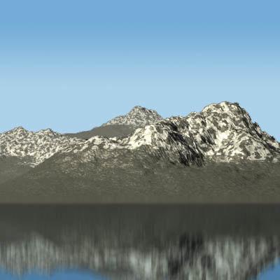 mountain landscape 3d lwo