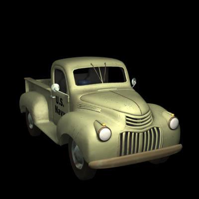 3d model truck navy
