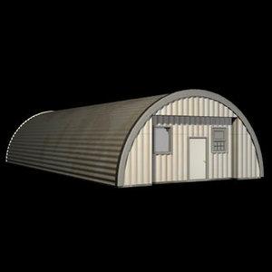 quanset hut 3d model