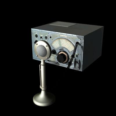 3d shortwave radio model