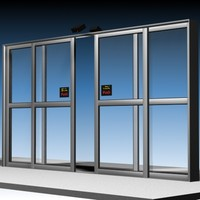 Door Sliding Commercial Glass Anim.exe