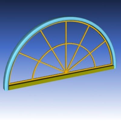 3d exterior window model