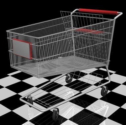 3d model shopping trolley grocery