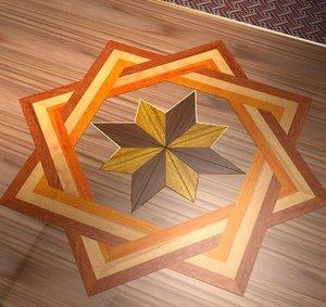 3d floor inlay model