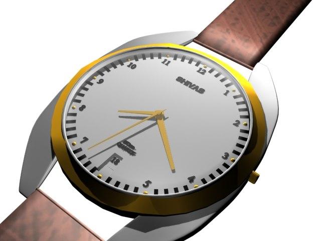 shivas watch 3d model