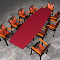 conference table chair 3d model