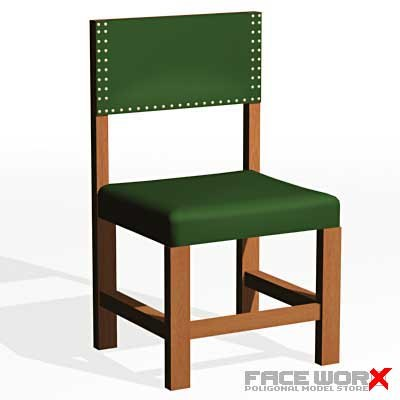 3dsmax chair military style