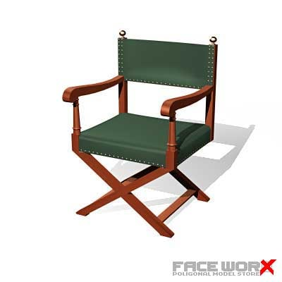 3ds max chair military style