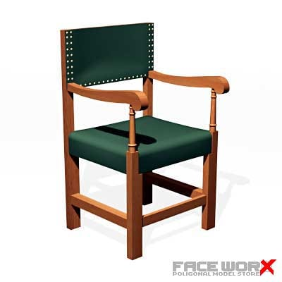 chair military style 3d model