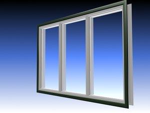 3d window buildings model