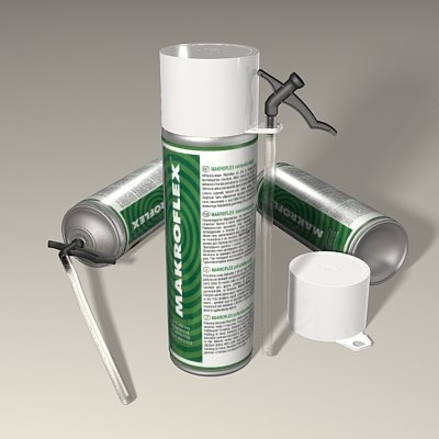 polyurethane foam bottle plastic 3d model