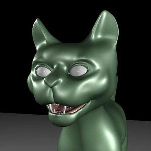 kitten cat 3d 3ds