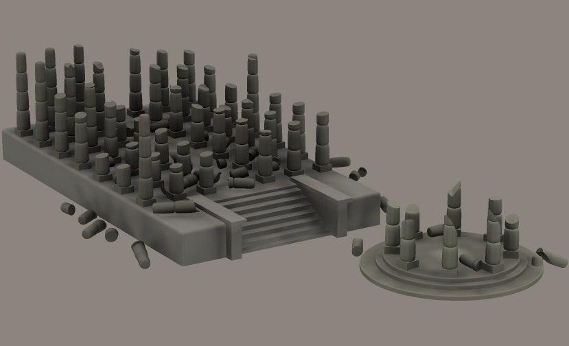3d set ruins
