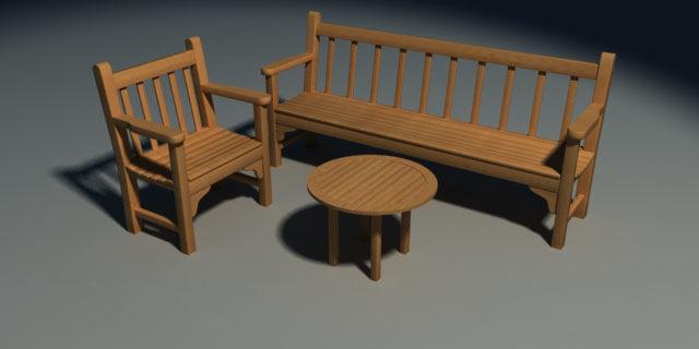 3d model smith bench
